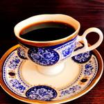 珈琲香房 - 鉄板ナポリタン:セット(1,080円)のコーヒー