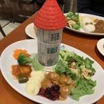 ムーミンハウスカフェ - 欲張りプレート 1800円