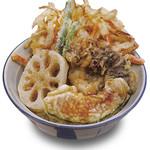 福天丼 - たっぷりの野菜をサックサクな天丼に。野菜天丼529円。