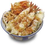 福天丼 - 人気の海老が2尾入ったお得な当店一押しの品。福天丼691円。