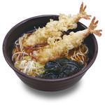 福天丼 - そばにだって自信があります。天ぷらそば637円。