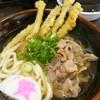 資さんうどん - 料理写真:かしわうどん(¥550)+ごぼう天トッピング(¥100)