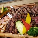 ステーキ屋 暖手 - 肉盛り