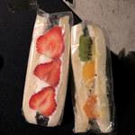 ベルガモット - あまおうサンドとフルーツサンド