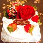 ローズガーデン - クリスマスケーキ 2018  ホワイト