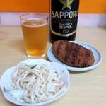 酒・立ち飲み 喜多屋 - スパサラ¥130&まんぞくコロッケ¥140