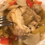 ビストロ メゾン・ド・ルージュ - 鶏肉の山椒焼きの鶏肉