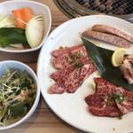清香園 - 清香園ランチ1480円と焼き野菜