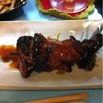 10049276 - レバー串焼き。                       超レア焼き、美味です。