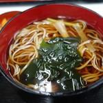 新宿増田屋 - (2018/11月)「そば弁当(天丼)」の温蕎麦