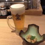 HERO海 - 生ビール(香るエール)&お通し♪