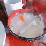 可亭 - お味噌汁。具沢山です‼︎