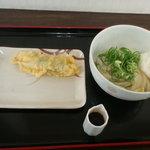 宝製麺所 宝うどん - 生醤油うどん(並・冷)・ササミチーズ天