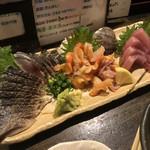 魚貝三昧 雛 - 料理写真:3点盛り1600円
