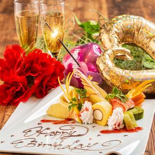 誕生日・記念日におすすめ◆メッセージ入りデザートプレート