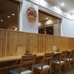 ぶた丼のとん田 - 店内(カウンター席)