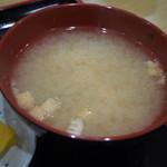 ぶた丼のとん田 - 味噌汁