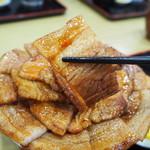 ぶた丼のとん田 - バラぶた丼(豚バラ肉)