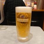 らあめん花月嵐 - 生ビール(580円)