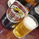 満洲園 - 瓶ビール(700円)2019年1月