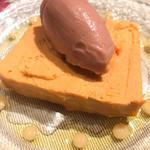 100547243 - ブルターニュ産オマールエビのテリーヌ                       紅玉りんごのソルベ                       (1,900)