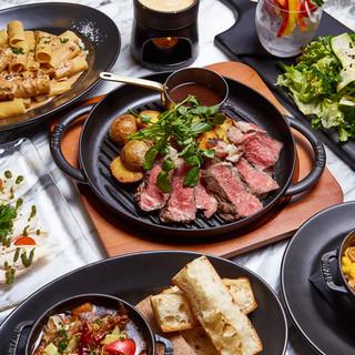 【肉イタリアン】厳選のコース料理