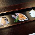 徳山鮓 - 鯖の熟鮓、鮒鮓、鮒鮓のサンド