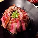 佰食屋 - ステーキ丼のアップ