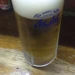 立ち呑みや増田 - 生ビール。