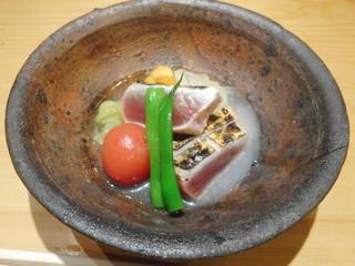 ノノナ - カツオ酢の物、三杯酢 トマト、玉ねぎ、インゲン