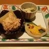 創作割烹 たかの - 料理写真:つきだしです。 鳥のつくねと大根炊いたん、辛子蓮根、和え物