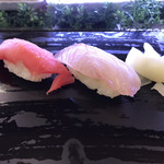 すしざんまい - かんぱち198円、中とろ298円。安定した美味しさです(^ ^)