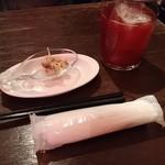 Bar de Ollaria - お通し&サングリア