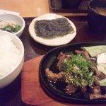 10057355 - すじ鉄板定食