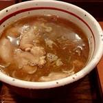 麺屋 えぐち - 「つけそば(特盛400g)」+「豚足」