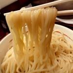 麺屋 えぐち - 「つけそば(特盛400g)」の麺のアップ