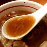 麺屋 えぐち - 「つけそば(特盛400g)」のつけ汁のアップ