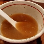 麺屋 えぐち - 「つけそば」の残ったつけ汁で「スープ割り」