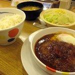 松屋 - デミたまハンバーグ定食490円