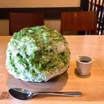 柿の葉ずし 平宗 - 大和茶金時氷