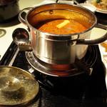 金香楼 - 麻辣湯の豚肉鍋