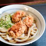 うどん工房 名麺堂 - 唐揚げぶっかけ冷(すだちぶっかけ冷+鶏からあげ)