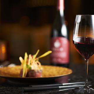 ワインとコースの至福のマリアージュ