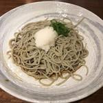 kabe家 酒・肴・蕎麦 - 御室セットのおろしそば(本日は千葉県産そば粉  +¥100で辛味大根)