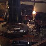 レストランバーラルコル - 巨大な暖炉?