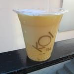 KOI The - ヤクルト緑茶のパールタピオカトッピング 520円