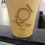 KOI The - ヤクルト緑茶のパールタピオカトッピング 側面