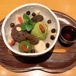 甘露七福神 - 塩あんみつ(抹茶アイス)