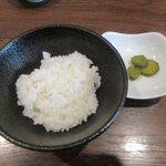 麺や七福 - ライス(無料サービス)