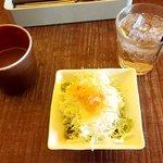 KUBOTA食堂 - スープとサラダとジンジャーエール(2018.12)